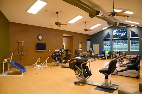Spacious Fitness Room with Windows