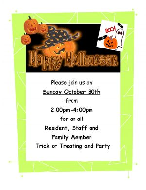 Halloween Party & Trick Or Treating